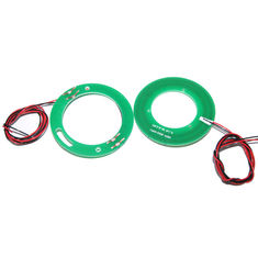 China 2 Circuits Separate Pancake Slip Ring Routing 5A Current with Modular PCB Design supplier