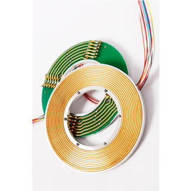 China 4 Circuits Signals Transferring Electrical Slip Ring Connectors 60mm Bore For Rotary Tables supplier