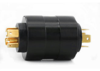 China Compact Pin Slip Ring Of 6 Circuits  With Precious Metal Contact For Electrical Cord Reel supplier
