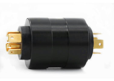 China Compact Precious Metal Contact Pin Slip Ring 6 Circuits For Electrical Cord Reel supplier