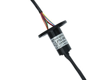 China 8 Circuits Compact-designed Miniature Slip Ring with Flange and Gold to Gold Contacts supplier