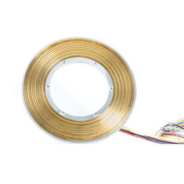 China 12 Circuits Electrical Pancake Slip Ring Transferring Power & Signal with φ60mm Bore for Rotary Tables factory