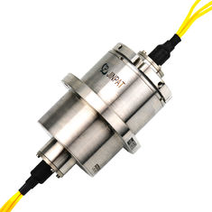 China 3 Circuits Fiber Optical Slip Ring Rotary Joint Electrical Connector Light Weight supplier