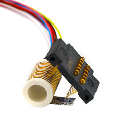 CE 12 Circuits Electrical Swivel Connector Slip Ring With Large Insulation Resistance
