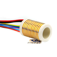 China 12 Circuits Separate Slip Ring Gold to Gold Contact 250mm Flexible Rotary Electrical Swivel Joint supplier