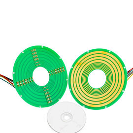 China 8 Circuits Pancake Slip Ring Transmitting 12A Current and 100M Ethernet Signal factory