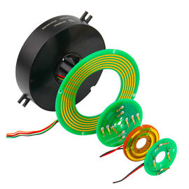 China 2 Circuits 5A Pancake Slip Ring with Precious Metal Contact for Emergency Lighting factory