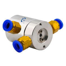 0.1N.m Low Torque Slip Ring of 2 Channels Pneumatic Rotary Joint Routing Compressed Air