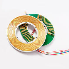 China 12 Circuits Flat Slip Ring with 60mm Hole Dia Transmitting 3A Current and Signal supplier