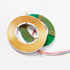 China 12 Circuits Flat Slip Ring with 60mm Hole Dia Transmitting 3A Current and Signal factory