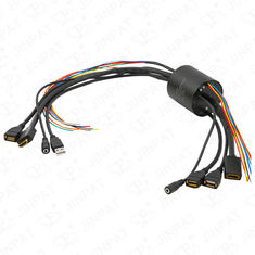 China IP54 13 Circuits Through Bore Slip Ring Transferring Current Signal HDMI USB2.0 Signal Simultaneously for HD Equipment factory