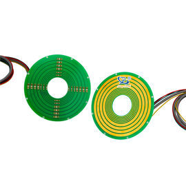 China Pancake Small Slip Ring Integrated 100M Ethernet 240VAC For Indexing Tables supplier