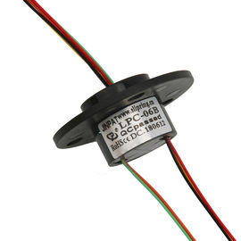 China Cap Type Rotary Slip Ring 6 Circuit 2A 240 VAC/DC Low Contact Resistance For Robot supplier