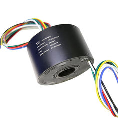 China Hollow shaft slip ring 6 circuit 15A working humidity 60% RH below precious metal contacts supplier
