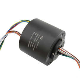 China Custom Solution Through Hole Slip Ring Precious Metal Contact 12 Circuits 10A 240 VAC/DC supplier