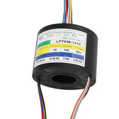 Compact Through Bore Slip Ring Transferring Ethernet  With  A Long Life For Camera