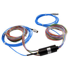 24 Circuits Hybrid Slip Ring RF Rotary Joint with Low Electrical Noise and Low Insertion Loss