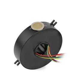 Flat through bore slip ring 6 Circuit 10A IP51Voltage 240VAC Low Torque,Can be customized
