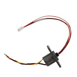 Miniature Capsule Slip Ring 4 Circuit 2A IP40 300RPM For Robot / Smart Articulated Arm