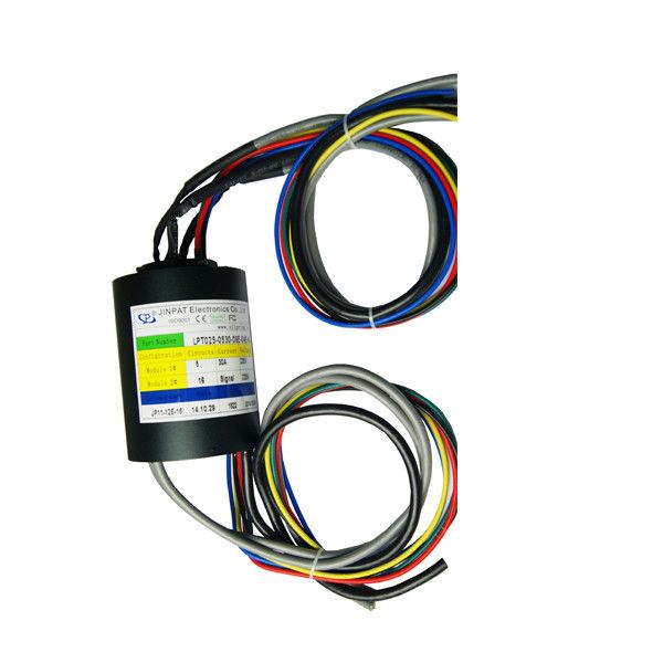 Compact Size Through Hole Slip Ring 5 Circuits Transmitting