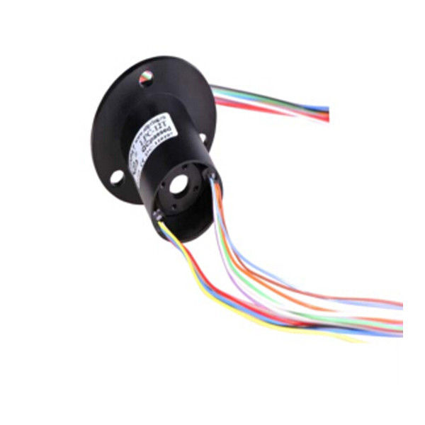 Through-Hole High-Speed Slip Ring with Gold-Gold Contacts and Low Electrical Noise for CCTV Equipment supplier
