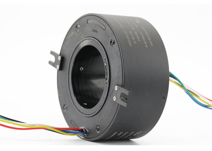 ID 80mm Through Bore Slip Ring of 6 Circuits 5A with 1mΩ Min Electrical Noise supplier