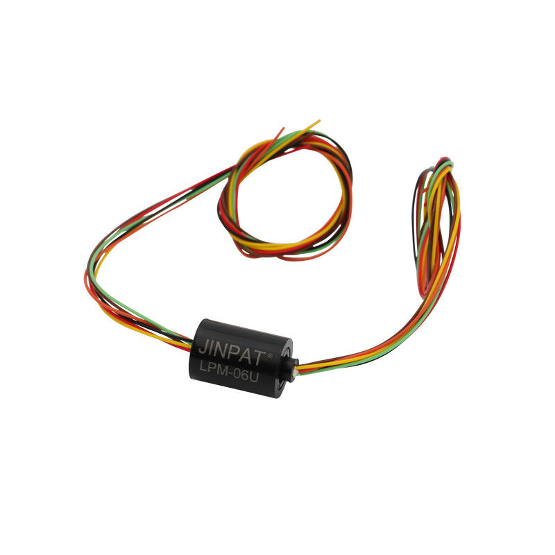 6 Circuits Model Miniature Slip Ring in Compact Design with Gold-Gold Contacts