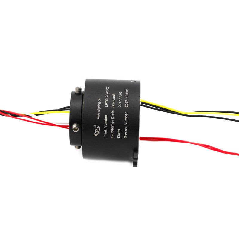 High Speed Drome Through Hole Slip Ring 6 Circuits 12mm Hole Compact Designed supplier