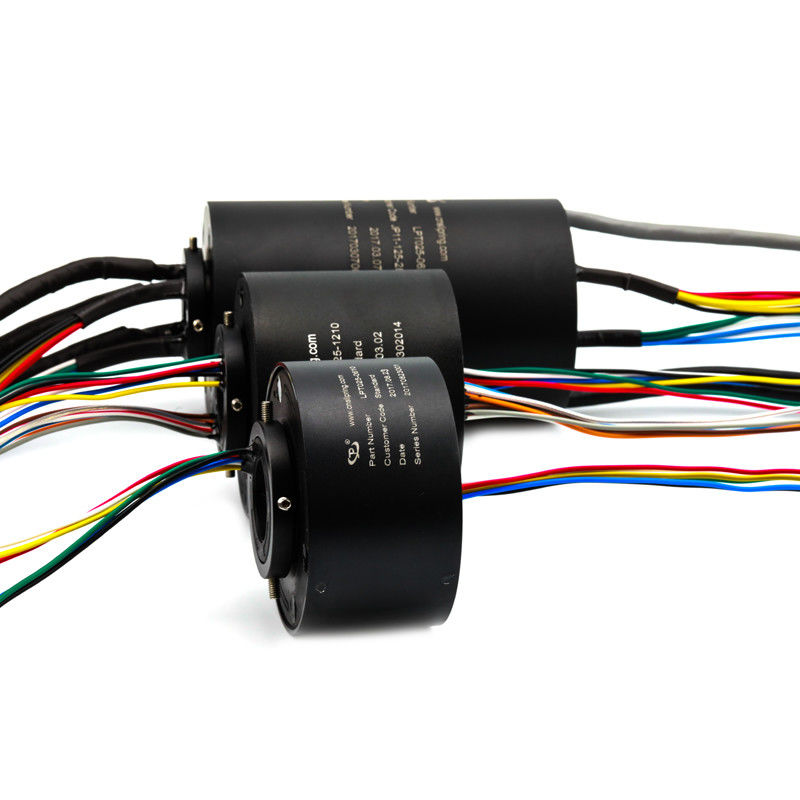 Electrical Through Bore Slip Ring IP54 Protection For Military Equipment supplier
