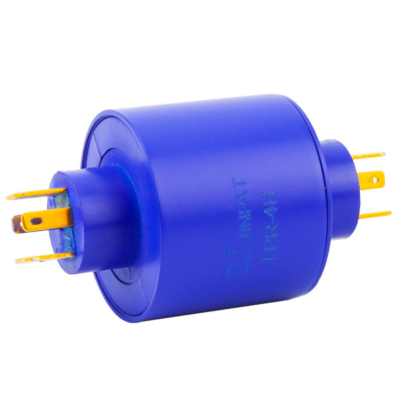 Pin Connection Slip Ring of 4 Circuits with 380VAC Voltage and Max. Speed Up to 500RPM Working Speed supplier