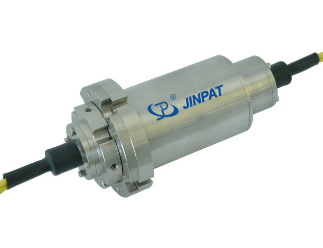 Multi Mode Fiber Optic Rotary Joint , 2 Circuits High Speed Fibre Optic Slip Ring supplier
