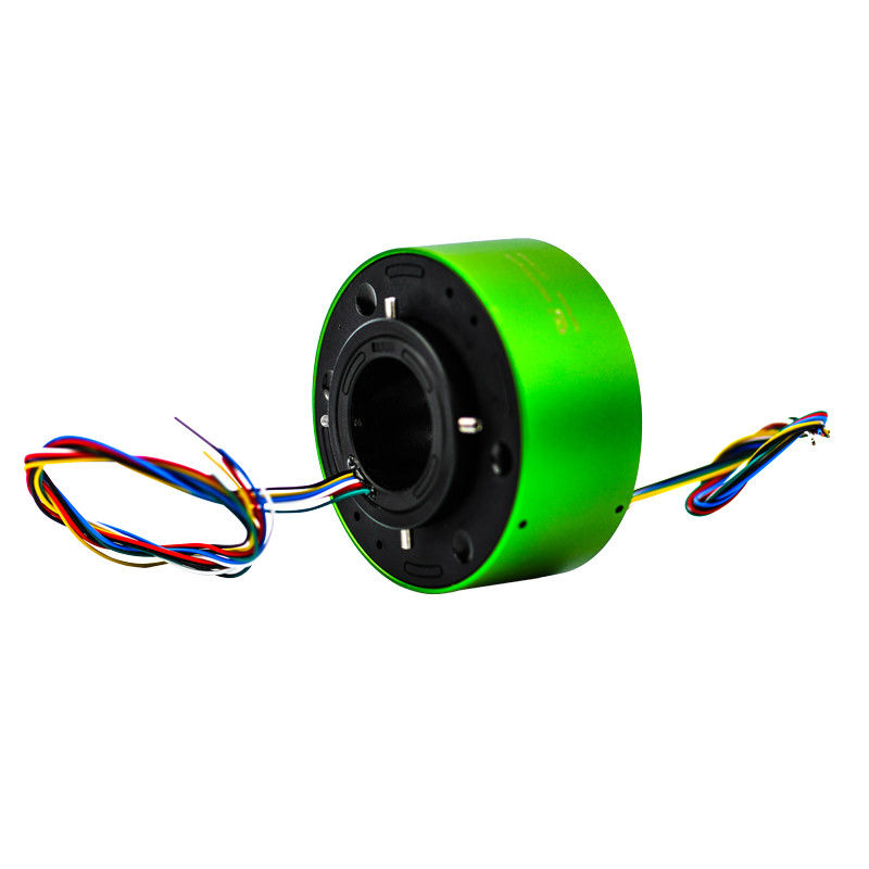 6 Circuits Through Hole Slip Ring Transmitting 5A Current In 360 Degree Continuous Rotation supplier