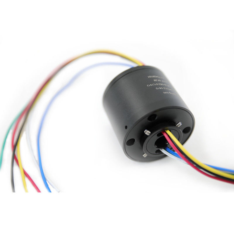 6 Circuits Through Hole Slip Ring with 12.7mm Hole Dia and 380VAC Voltage