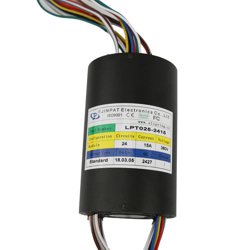 through hole slip ring 15a 240VAC can be used of magnetic sensor rotary sensor through hole slip ring 38mm supplier