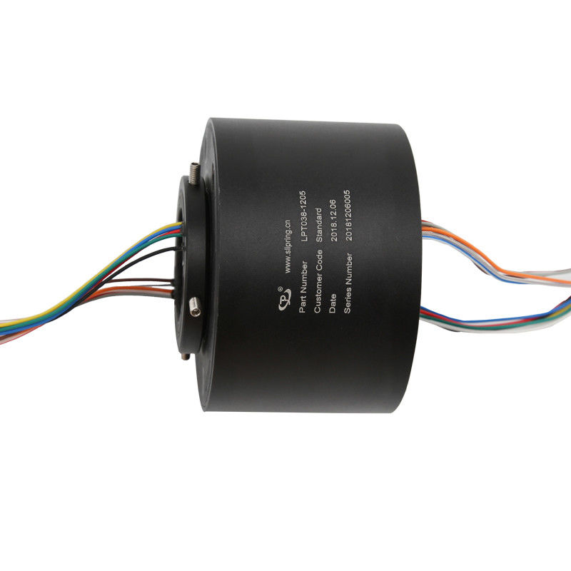 240VAC Industrial Slip Ring 12 Circuit 5A Transmits Analog / Data Signals For Test Equipment supplier