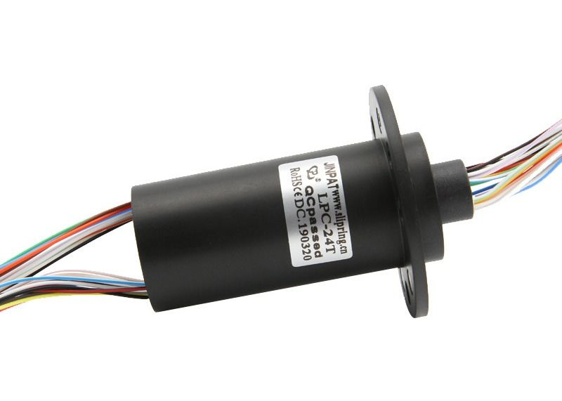 24 Circuit Miniature Slip Ring Compact Capsule Rotary Electrical Interfaces For Rotating Water Tank supplier
