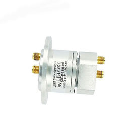 China 2 Channels Coaxial Rotary Joint Slip Ring , Excellent Structure Long Life For HD Long Distance Device distributor
