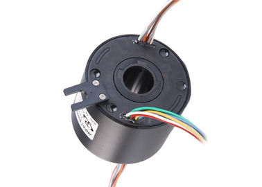 China High Voltage Electrical Slip Ring , ID 25mm Black Rotary Electrical Connector In Welding Robot distributor