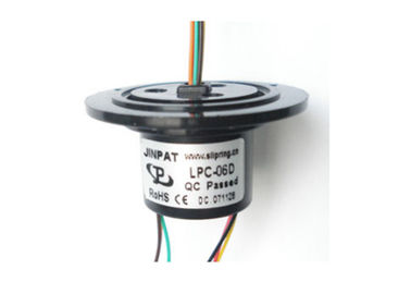 China Compact 6 Circuits Mini Slip Ring Gold-Gold Contacts Low electrical Noise Smooth Running distributor
