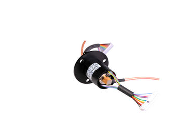 China 24 Circuits Hybrid Slip Ring Low Electrical Noise Rotary Joint Electrical Connector distributor