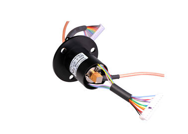 China The LPC-1C1202-A Slip Ring With RF Coaxial Connector Gold-Gold Contacts Compact Design distributor