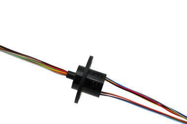 China 12 Circuits Electrical Slip Ring Capsule Up To 300 Rpm , Continuous Smooth Running distributor