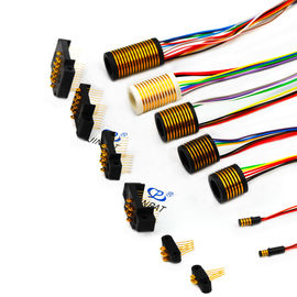 China 0.77mm Pin Distance Slip Rings for Transmitting Weak Signal Combination distributor