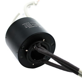 China Compact Rotary Union Joint Through Bore Slip Ring Hollow Shaft For Robotics / Cable Reels distributor