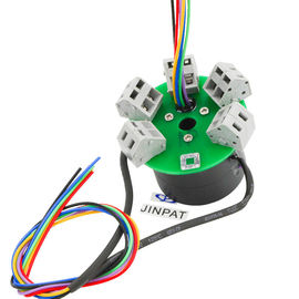China 12 Wires High Current Performance through hole slip ring For Machinery Parts distributor