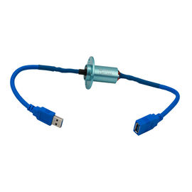 Mini USB Slip Ring with Low Electrical Noise and Aluminium Alloy for USB3.0 Signal Transmission