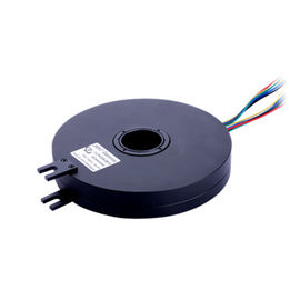 China Fiber Brush Pancake Slip Ring of 8 Circuits with 380VAC Voltage Routing 10A Per Wire distributor
