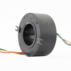 China Rotary Joint Through Bore Slip Ring 6 Wires 5 A Per Ring With Hole Size 70 Mm factory