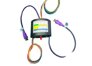 China 10 Circuits Through Boe USB HDMI Slip Ring Transmit For HD Vedio System , 2A Current Per Wire distributor