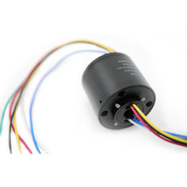 China JINPAT 6 Circuits 12.7mm Through Bore Slip Ring with 380VAC and 1000V@50Hz Large Dielectric Strength distributor
